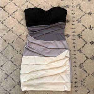 Bandaid mini dress